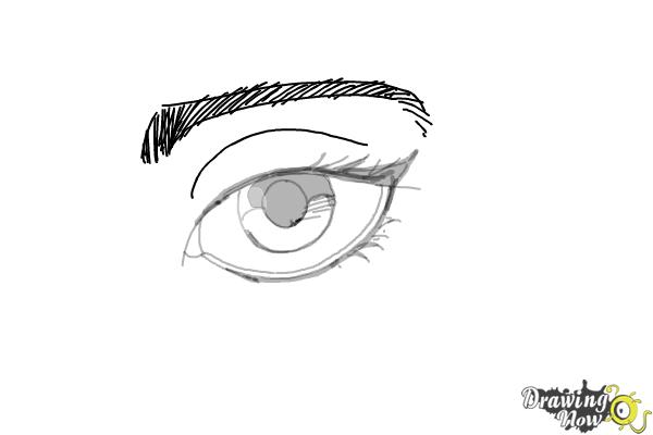 How to Draw an Eyeliner - Step 9