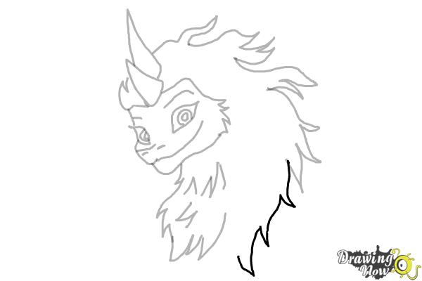 How to Draw Sisu - Raya and the Last Dragon - Step 10
