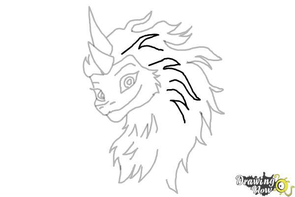 How to Draw Sisu - Raya and the Last Dragon - Step 11