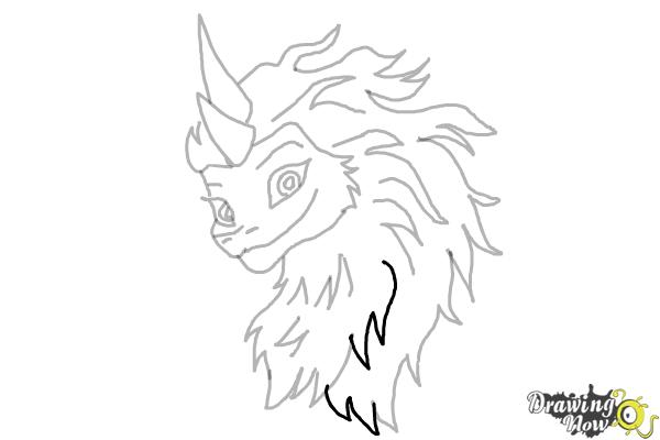 How to Draw Sisu - Raya and the Last Dragon - Step 12