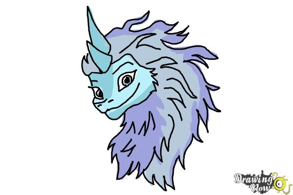 How to Draw Sisu - Raya and the Last Dragon - Step 13