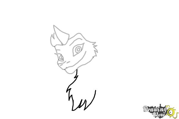 How to Draw Sisu - Raya and the Last Dragon - Step 6