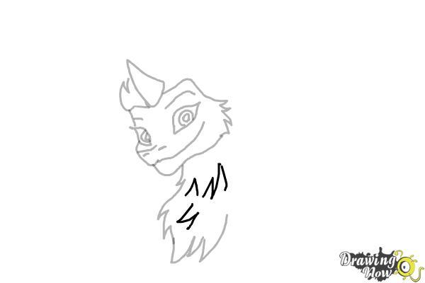 How to Draw Sisu - Raya and the Last Dragon - Step 7