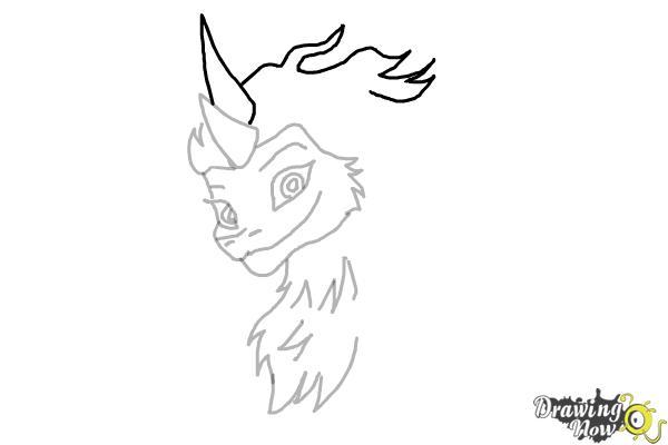 How to Draw Sisu - Raya and the Last Dragon - Step 8