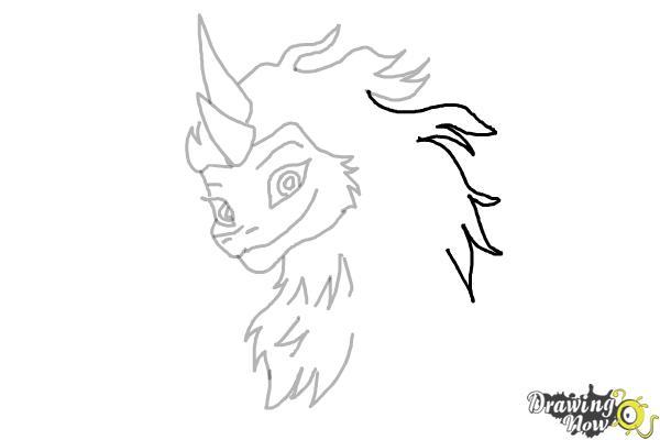 How to Draw Sisu - Raya and the Last Dragon - Step 9