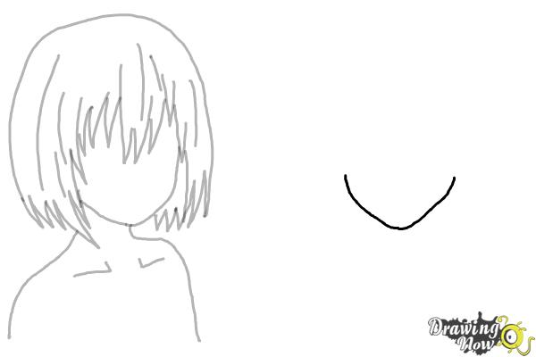 How to Draw Anime Girl Hair - Step 10