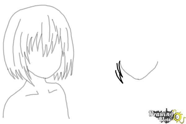 How to Draw Anime Girl Hair - Step 11