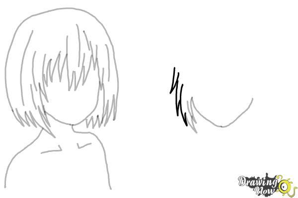How to Draw Anime Girl Hair - Step 12