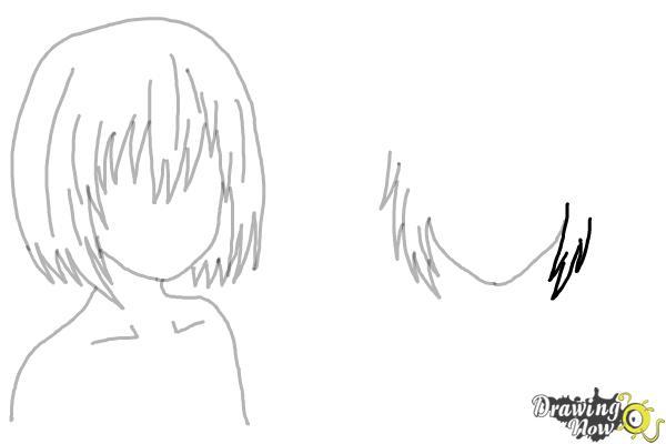 How to Draw Anime Girl Hair - Step 13