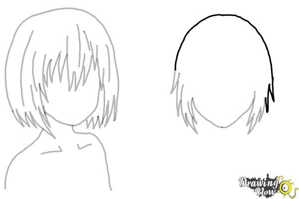 How to Draw Anime Girl Hair - Step 14