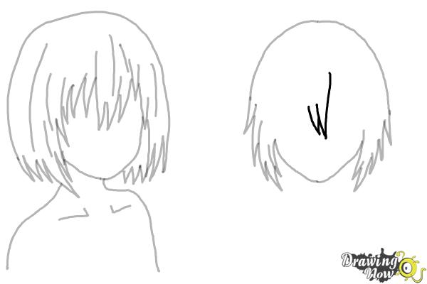 How to Draw Anime Girl Hair - Step 15