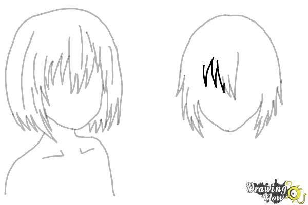 How to Draw Anime Girl Hair - Step 16