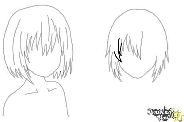 How to Draw Anime Girl Hair - Step 17