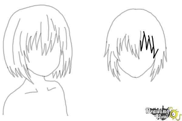 How to Draw Anime Girl Hair - Step 18