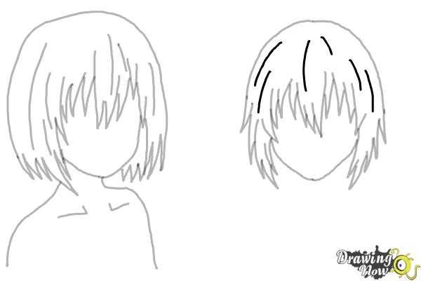 How to Draw Anime Girl Hair - Step 19