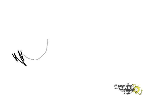 How to Draw Anime Girl Hair - Step 2