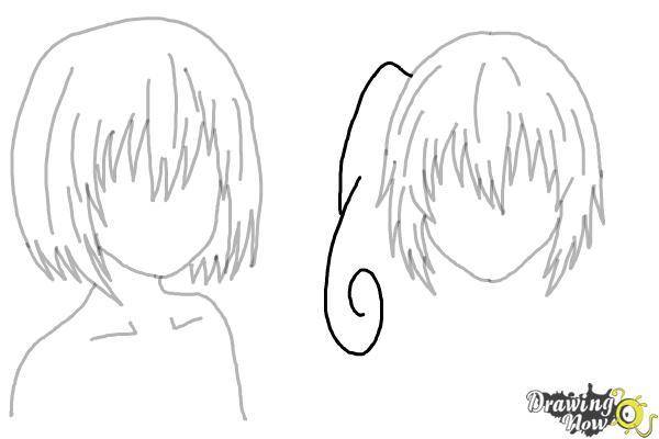 How to Draw Anime Girl Hair - Step 20