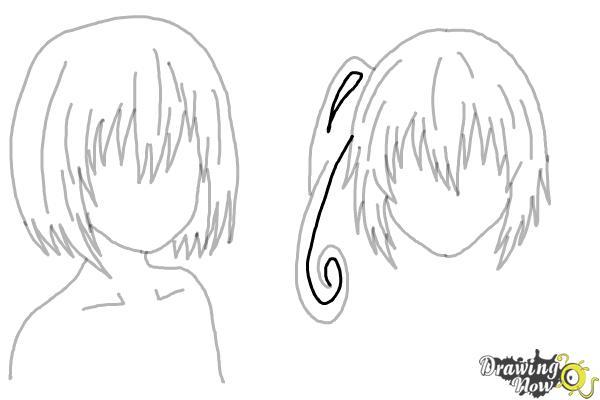 How to Draw Anime Girl Hair - Step 21