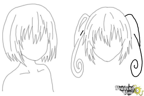 How to Draw Anime Girl Hair - Step 22