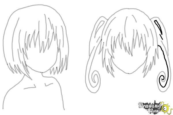 How to Draw Anime Girl Hair - Step 23