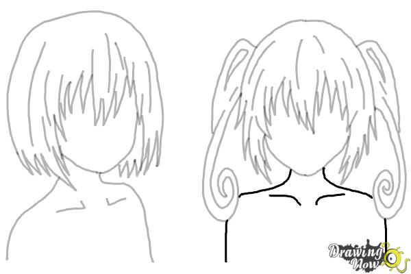 How to Draw Anime Girl Hair - Step 24