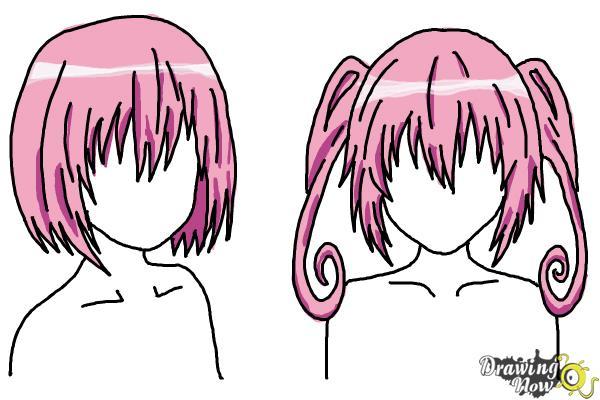 How to Draw Anime Girl Hair - Step 25