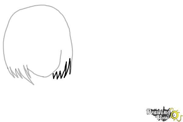 How to Draw Anime Girl Hair - Step 4
