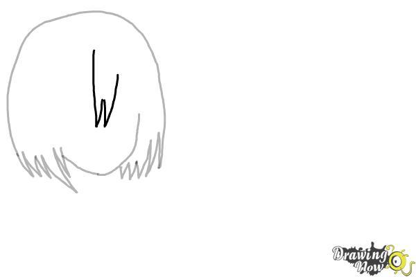 How to Draw Anime Girl Hair - Step 5