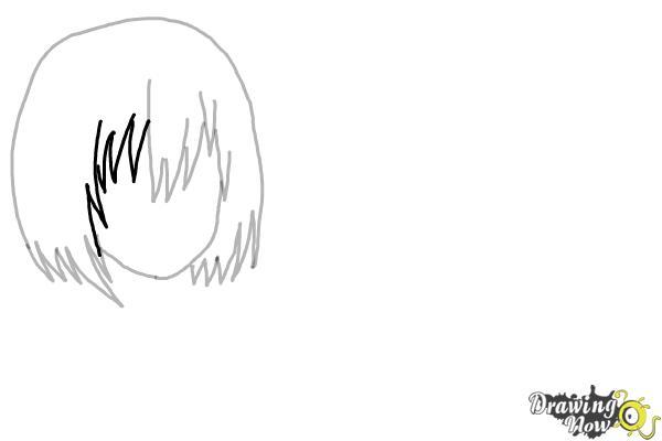 How to Draw Anime Girl Hair - Step 7