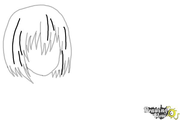 How to Draw Anime Girl Hair - Step 8