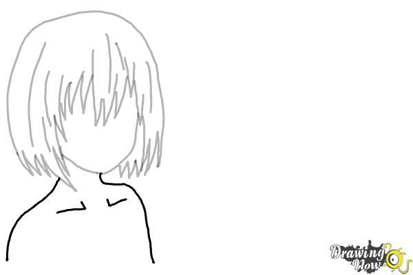 How to Draw Anime Girl Hair - Step 9