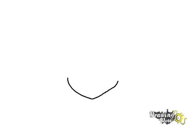 How to Draw Anime Boy Hair - Step 1
