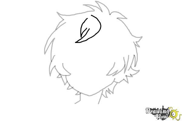 How to Draw Anime Boy Hair - Step 10