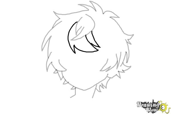 How to Draw Anime Boy Hair - Step 11
