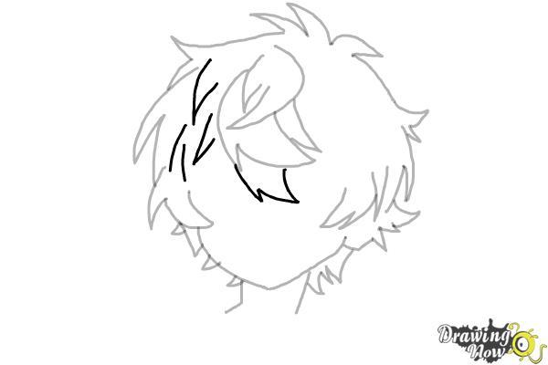 How to Draw Anime Boy Hair - Step 12