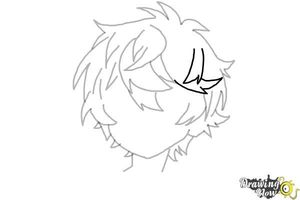 How to Draw Anime Boy Hair - Step 13