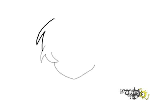 How to Draw Anime Boy Hair - Step 3