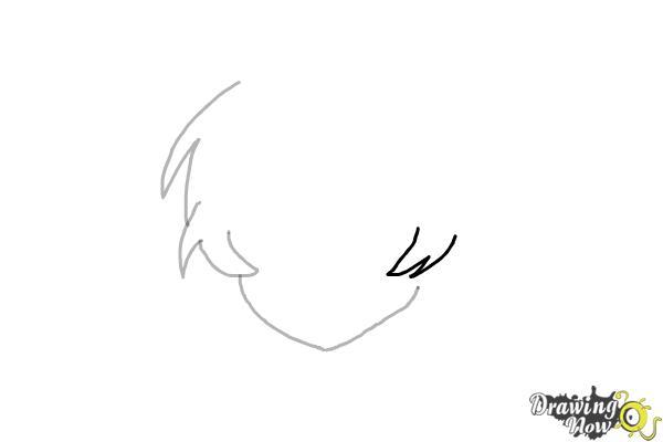 How to Draw Anime Boy Hair - Step 4