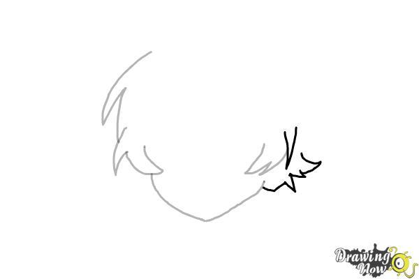 How to Draw Anime Boy Hair - Step 5