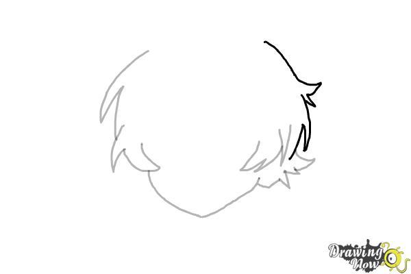 How to Draw Anime Boy Hair - Step 6