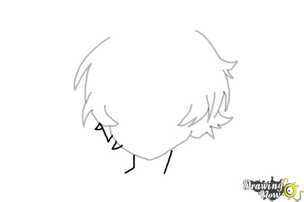 How to Draw Anime Boy Hair - Step 7