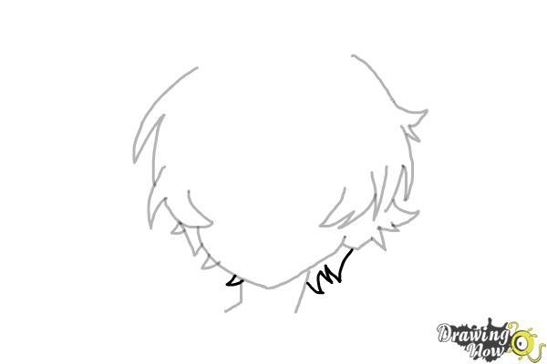How to Draw Anime Boy Hair - Step 8