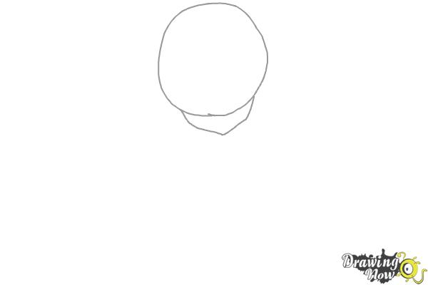 How to Draw Cute Anime Girl - Step 1