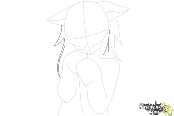 How to Draw Cute Anime Girl - Step 10