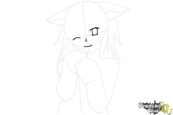 How to Draw Cute Anime Girl - Step 12