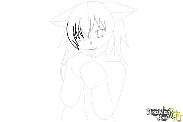 How to Draw Cute Anime Girl - Step 14