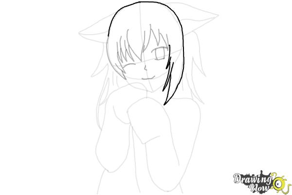 How to Draw Cute Anime Girl - Step 15
