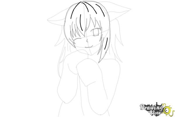 How to Draw Cute Anime Girl - Step 16