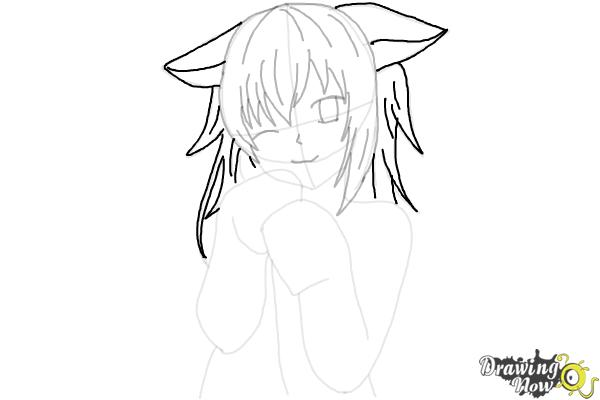 How to Draw Cute Anime Girl - Step 17