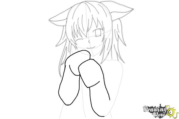 How to Draw Cute Anime Girl - Step 18